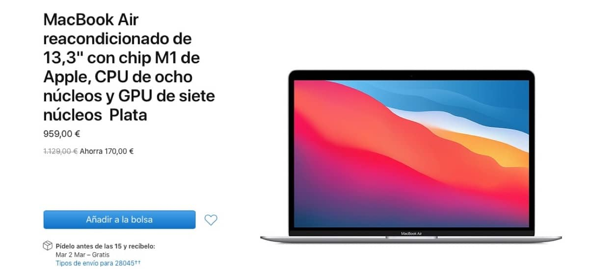 MacBook Air reacondicionado