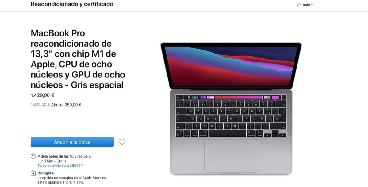 MacBook Pro M1 reacondicionado