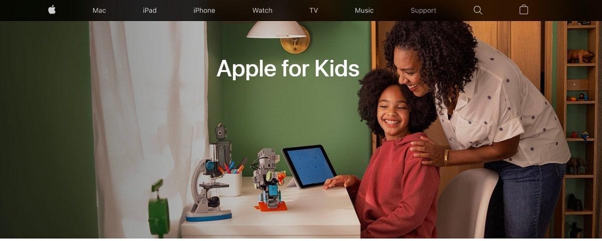 Apple lanza una Web especializada en configuración de sus dispositivos para los más pequeños