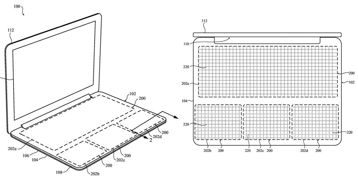 Patente de teclado para Mac