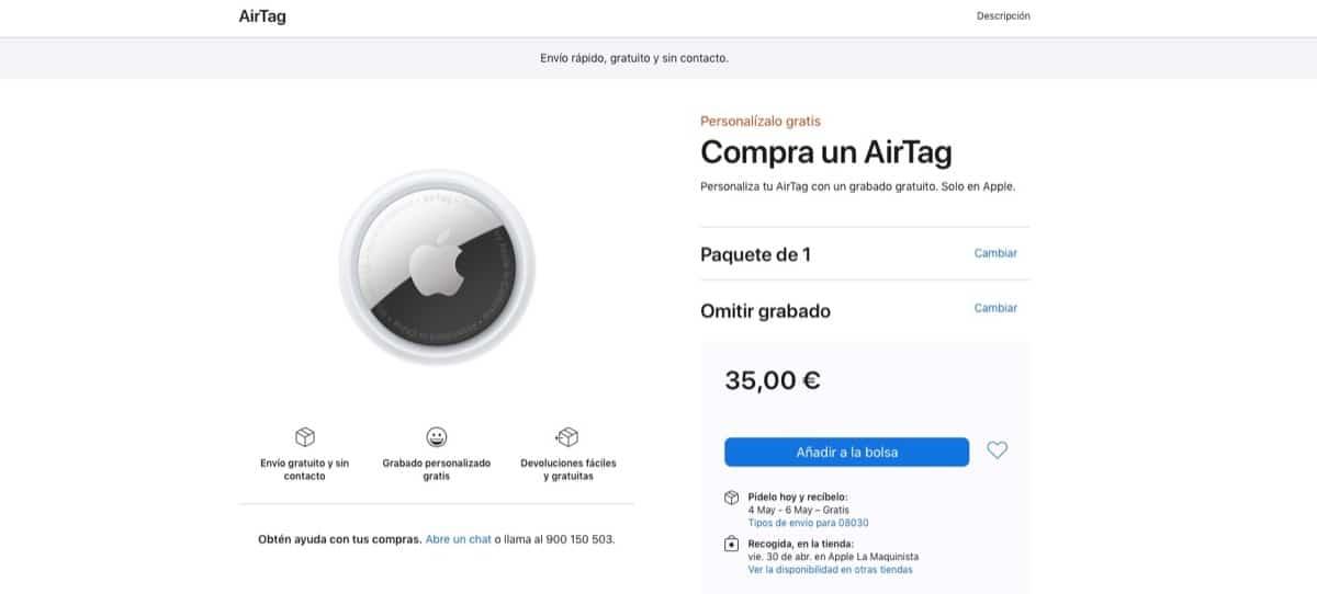 Envío AirTags