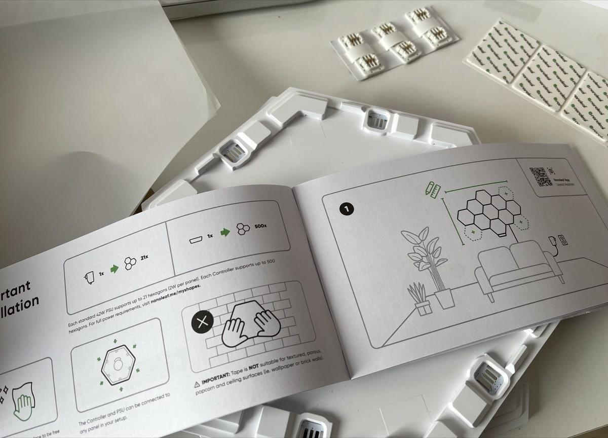 Instrucciones Nanoleaf Shapes Hexágonos