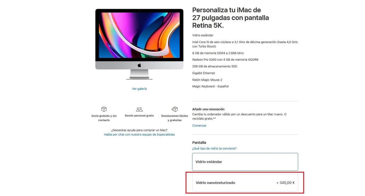 iMac Vidrio nanotexturizado