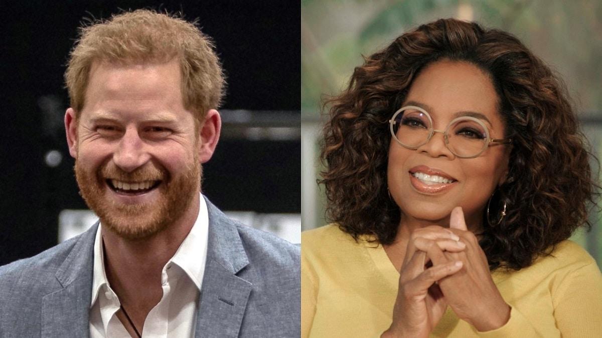 Oprah Winfrey y el Príncipe Harry en Apple TV+