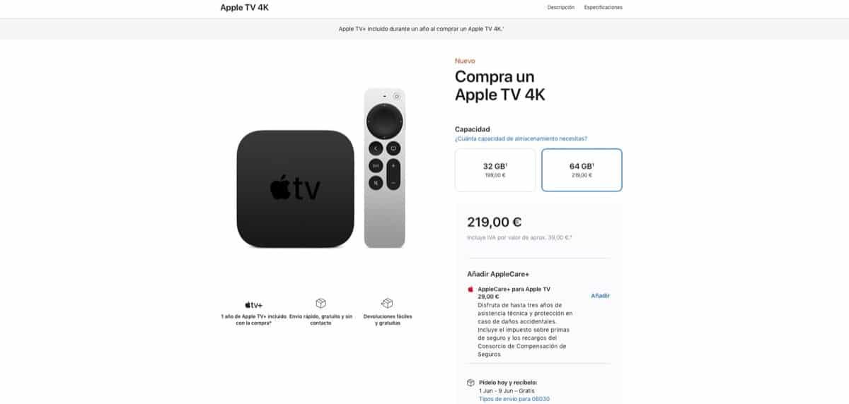 Entrega Apple TV