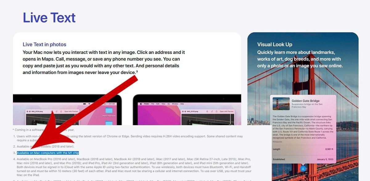Funciones exclusivas Apple™ Silicon macOS Monterey