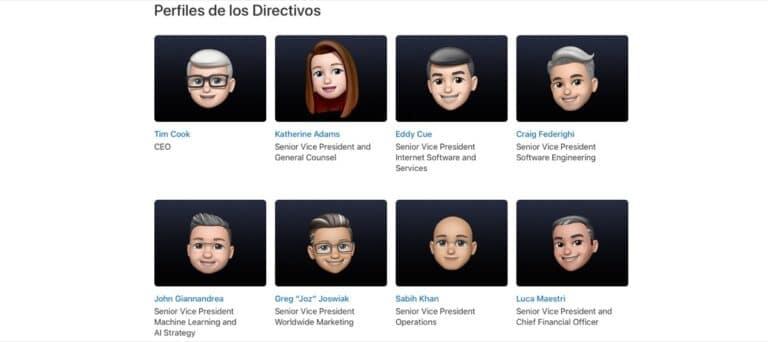 Memojis directivos Apple