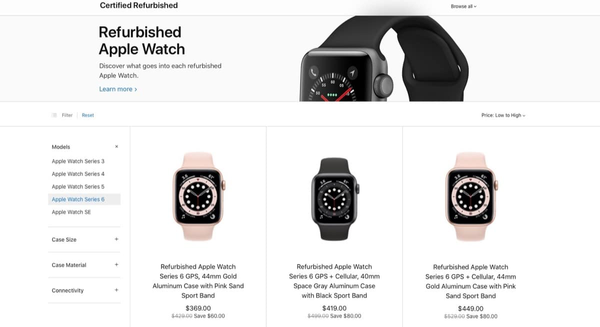 Apple Watch Series 6 restaurados