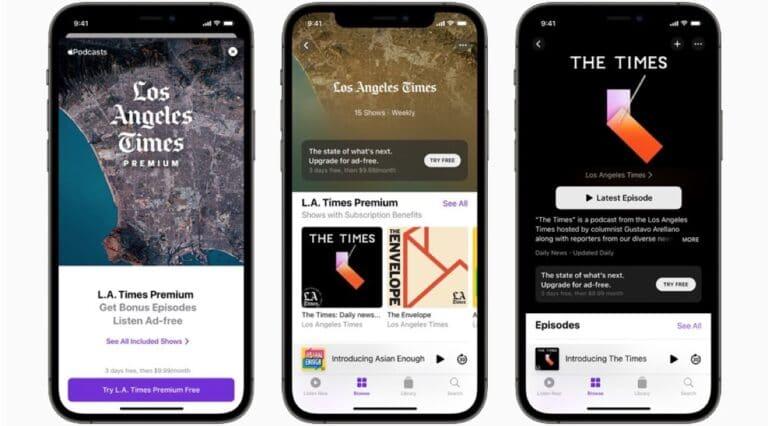 Suscripciones Apple Podcasts