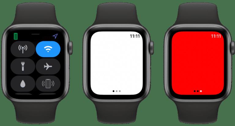Linterna Apple Watch