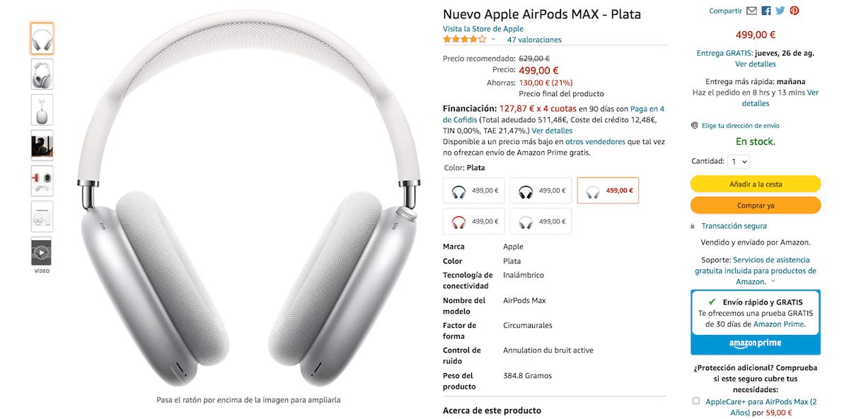 AirPods Max por 499 euros