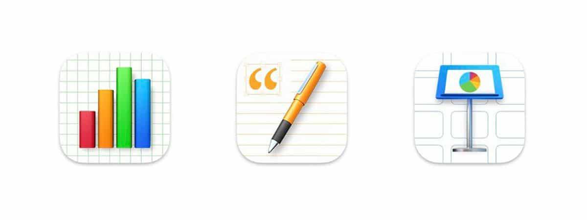 iconos iWork macOS Big Sur