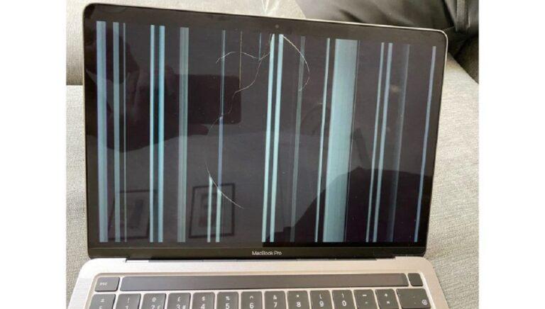 Grietas en la pantalla de los MacBook Pro M1