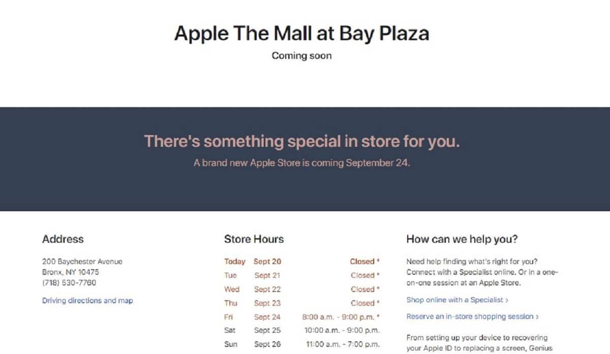 Apple Store Bronx Nueva York